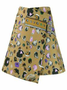 EDDA Thilde asymmetric skirt - Brown
