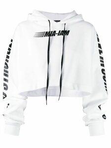 Mia-iam oversized cropped hoodie - White