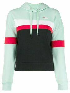 Fila colour-block hooded sweatshirt - Green