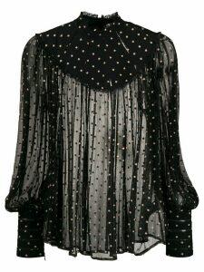 Zimmermann Espionage Swing silk blouse - Black