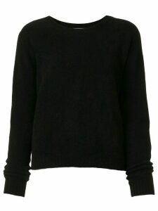 Suzusan long-sleeve cashmere jumper - Black