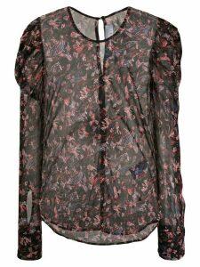 IRO floral-print blouse - Black