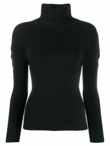 Pleats Please Issey Miyake turtle-neck fitted sweater - Black