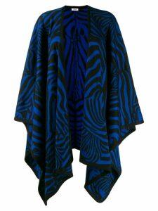 P.A.R.O.S.H. zebra print oversized cardigan - Black