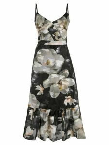 Marchesa Notte floral-print sleeveless dress - Black