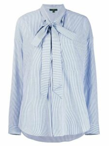Jejia striped bow fastening shirt - Blue