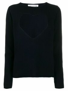 Comme Des Garçons Girl cut-out heart jumper - Blue