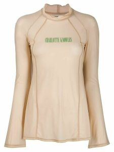 Charlotte Knowles Truss semi-sheer top - NEUTRALS