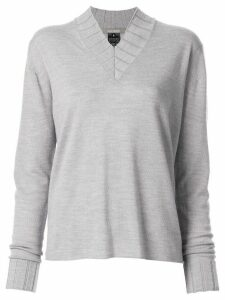 Suzusan V-neck knitted jumper - Grey