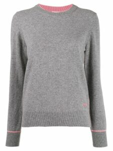 Tory Burch logo cashmere long-sleeve sweater - Grey