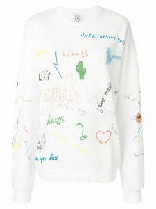 Zoe Karssen sketch print jumper - White