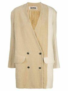 Uma Wang oversized double-breasted blazer - NEUTRALS