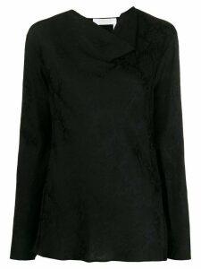 Chloé jacquard floral print blouse - Black