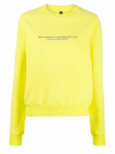 UNRAVEL PROJECT logo jersey sweatshirt - Yellow