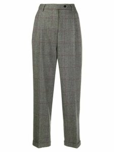 Brag-wette glen plaid tailored trousers - Grey