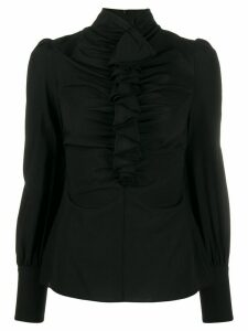 Zimmermann Espionage Cinched ruffled blouse - Black