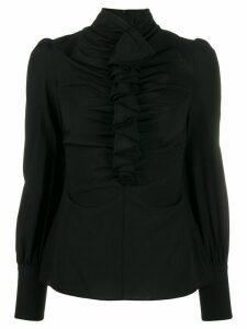 Zimmermann Espionage Cinched ruffled blouse - Black