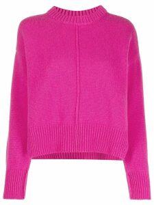 ALESSIA SANTI seamed funnel neck jumper - Pink