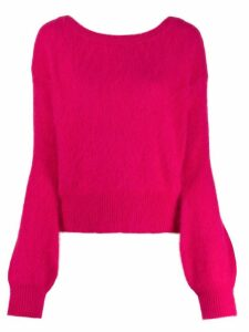 Semicouture rear cut-detail sweater - Pink