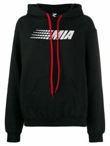 Mia-iam logo print hoodie - Black