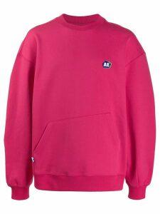 Ader Error oversized logo jumper - PINK