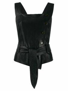 Nanushka Belted Strap top - Black