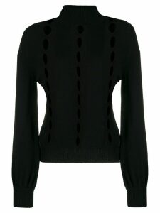 L'Autre Chose cut-out detail turtleneck jumper - Black