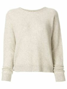 Suzusan long-sleeve cashmere jumper - Neutrals