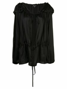Ann Demeulemeester hooded pleated blouse - Black