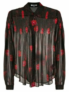 Equipment Jaslyn floral-print silk shirt - Black