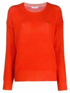 Majestic Filatures contrast knit jumper - Red