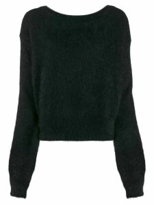 Semicouture rear-tied sweater - Black