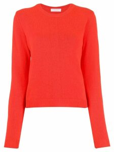 Majestic Filatures chevron knit jumper - ORANGE