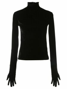 Richard Quinn gloved rollneck top - Black