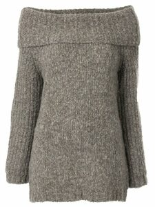 Snobby Sheep off the shoulder jumper - Brown
