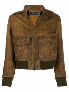 Polo Ralph Lauren floral-print bomber jacket - Brown