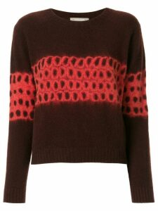 Suzusan bleach-patterned cashmere jumper - Black