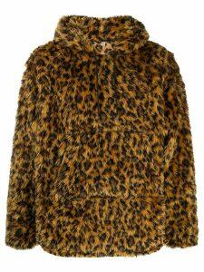 R13 fantasy fur hoodie - Yellow