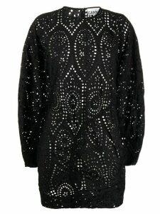 GANNI lace mini dress - Black
