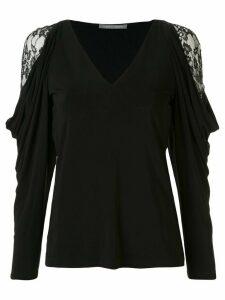 Alberta Ferretti V-neck sweatshirt - Black