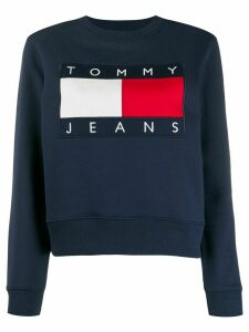 Tommy Jeans embroidered logo sweatshirt - Blue