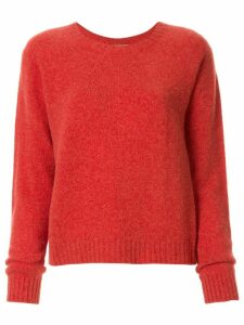 Suzusan cashmere knitted jumper - ORANGE