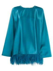 Semicouture embroidered long-sleeve top - Blue