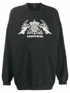 R13 Radiohead sweatshirt - Black