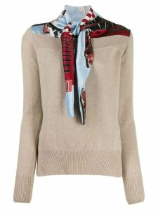 Cédric Charlier v-neck knit jumper - NEUTRALS