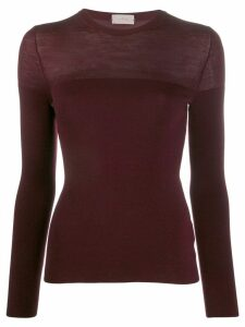 MRZ knitted long-sleeve top - Red