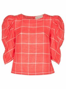 Mara Hoffman Katya puff sleeve blouse - Red