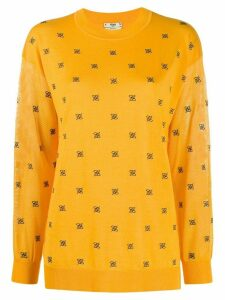Fendi FF embroidered jumper - Yellow