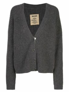 Uma Wang ribbed-knit loose-fit cardigan - Brown
