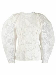 Givenchy balloon sleeve lace blouse - White
